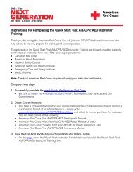 Instructions for Completing the Quick Start First Aid - Instructor's Corner