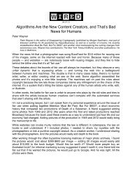 Algorithms Are the New Content Creators, and That's Bad ... - Notibits