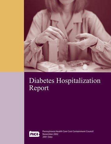 Diabetes Hospitalizations 2002 - Pennsylvania Health Care Cost ...