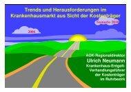 Trends und Herausforderungen im Krankenhausmarkt aus Sicht der ...