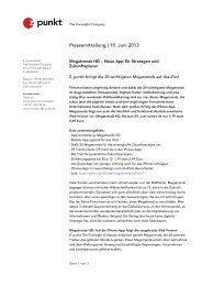 Pressemitteilung | 19. Juni 2013 - Z_punkt