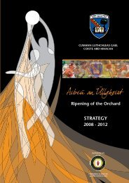 Armagh County Board Strategic Plan, 2008-2012 (pdf) - Croke Park