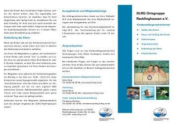 DLRG Ortsgruppe Recklinghausen e.V. - DLRG Recklinghausen