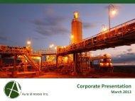 Corporate Presentation - Aura Minerals Inc.