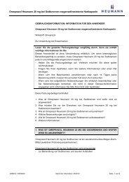 Gebrauchsinformation Omeprazol Heumann 20 mg bei Sodbrennen ...