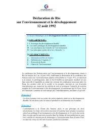 Déclaration de Rio sur l'environnement et le ... - Emploipublic.fr