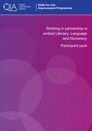 Working In Partnership Participant Pack - Skills for Life Improvement ...