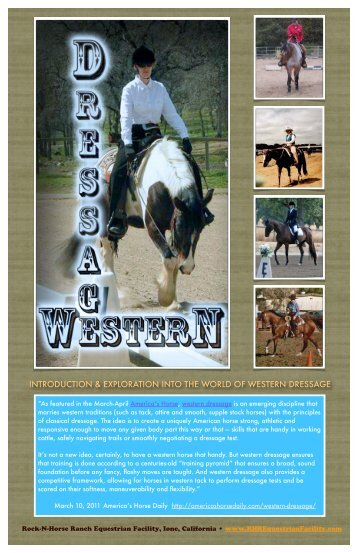 introduction & exploration into the world of western dressage