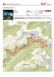 Nordic Walking-Strecke Geiselberg Tour 3