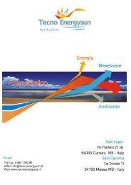 Scarica la brochure - Tecno Energysun