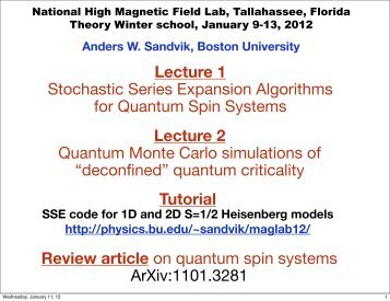 Lecture 1 - Boston University Physics Department.