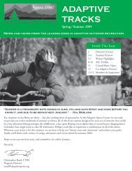 ADAPTIVE TRACKS - Adaptive Sports Center