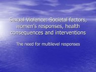Overview of Women's Responses - Sexual Violence Research ...