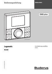 Bedienungsanleitung Logamatic - Heizungen