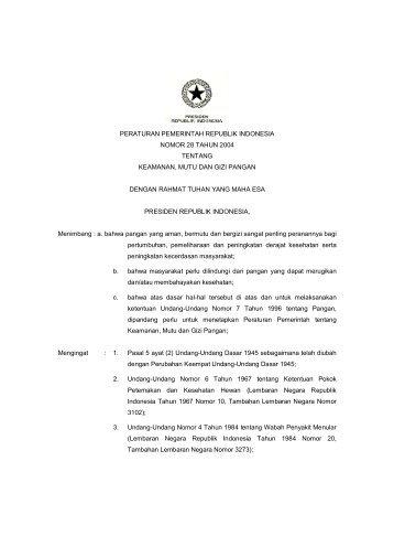 peraturan pemerintah republik indonesia nomor 28 tahun 2004 ...