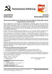 Gemeinsame Erklärung - DKP