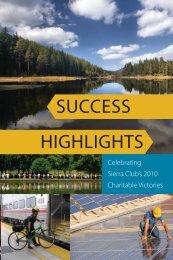 2010 Accomplishments - The Sierra Club Foundation