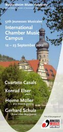 International Chamber Music Campus - Jeunesses Musicales ...