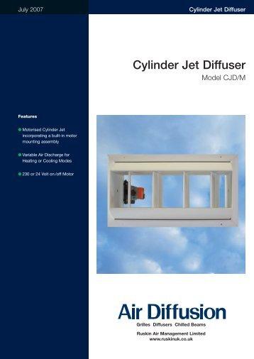Cylinder Jet Diffuser - Air Diffusion