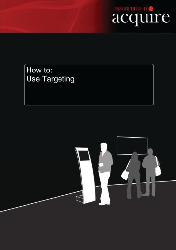 How to: Use Targeting - Acquire