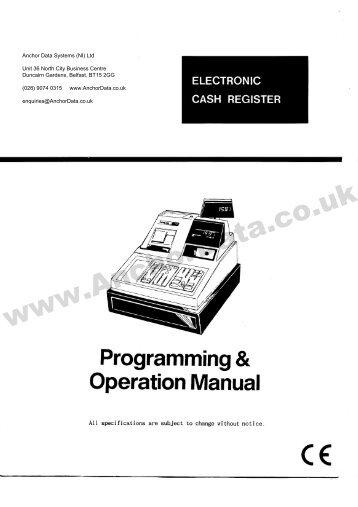FREE Samsung ER-4615 Cash Register User Manual - Anchor Data ...