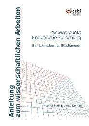 Anleitung zum wissenschaftlichen Arbeiten - ÖZBF