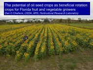 The potential of oil seed crops as beneficial ... - Florida Ag Expo