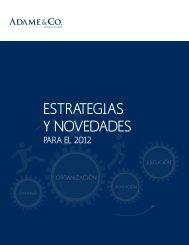 ADAME_Estrategias y novedades 2012 - Adame & Co.