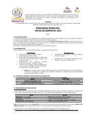 Programa de Becas Academicas - Transparencia - Municipio de ...