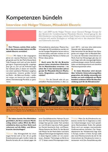 Interview mit Holger Thiesen - Kälte Klima Aktuell