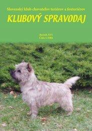 Spravodaj 1 / 2006 - Slovenský klub chovateľov teriérov a foxteriérov