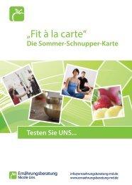 Die Sommer-Schnupper-Karte - Ernährungsberatung Nicole Lins