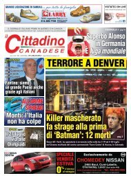 25 luglio 2012 - il cittadino canadese