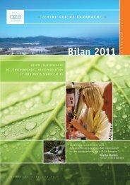 Voir le Bilan (8 pages, septembre 2012) - Centre de Cadarache - CEA