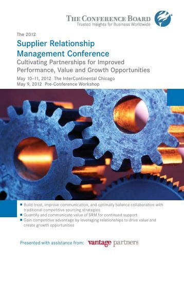 Supplier Relationship Management Conference - The Conference ...
