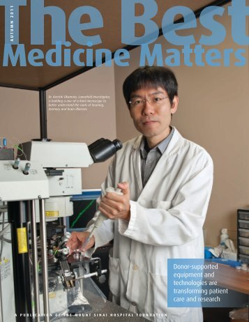Best Medicine Matters Fall 2011 - Mount Sinai Hospital
