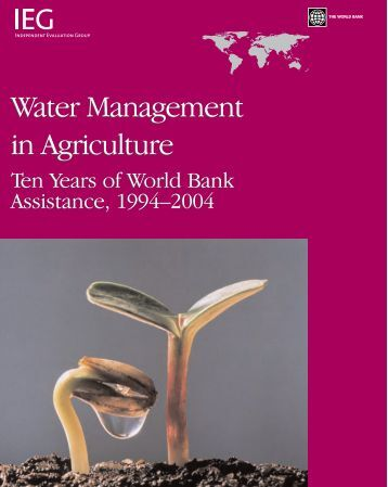 Water Management in Agriculture - World Bank