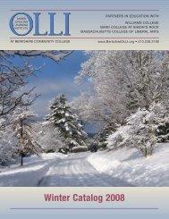 Winter Catalog 2008 - BerkshireOLLI.org