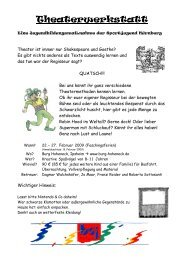 Theaterwerkstatt - Bayerische Sportjugend BSJ - Kreis Nürnberg