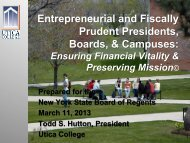 Entrepreneurial and Fiscally Prudent Presidents ... - Board of Regents