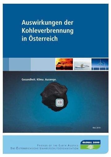 Auswirkungen von Kohle in Österreich