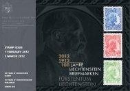 stamp issue 1 february 2012 5 march 2012 - Philatelie Liechtenstein
