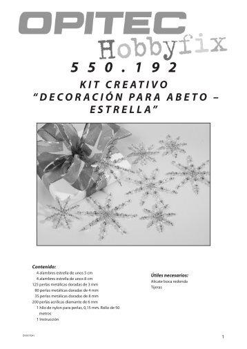 """kit creativo """"decoración para abeto – estrella"""" - Opitec.com"""