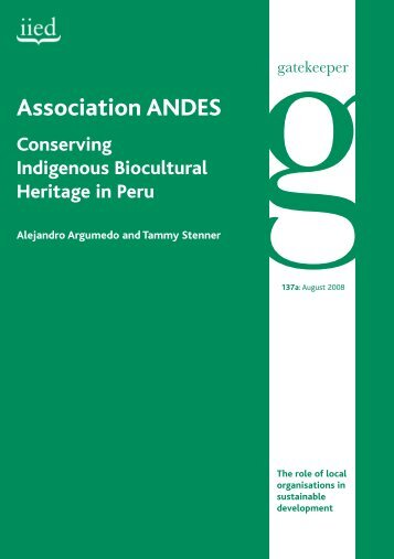 Association ANDES - IIED pubs - International Institute for ...