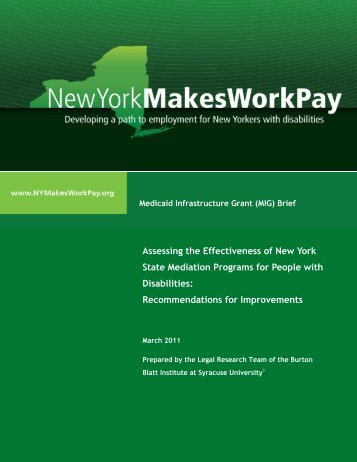 Assessing the Effectiveness of New York State ... - Cornell University