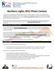 Northern Lights 2012 Photo Contest