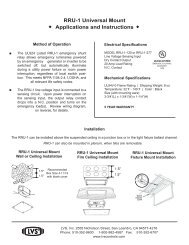 RRU-1 Universal Mount Applications and Instructions - Hubbell ...