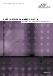 Past Injustice in World Politics. Prospects of Truth - Helsinki.fi