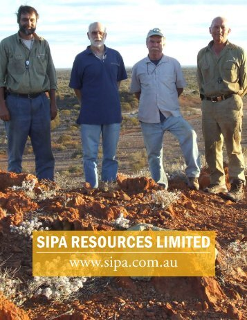 SIPA RESOURCES LIMITED - The International Resource Journal