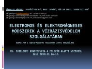 Elektromos és elektromágneses módszerek a vízbázisvédelem ...